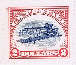 """Post Office Issues $2 """"inverted Jenny"""" Stamp"""