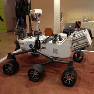 Curiosity rover model side