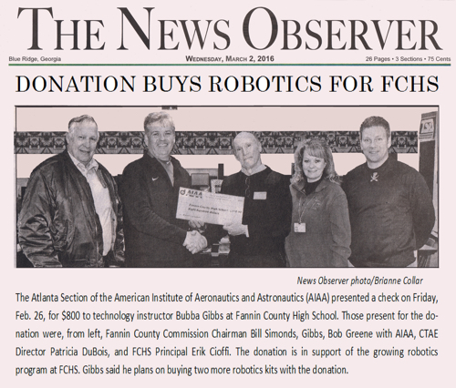 AIAA Robotics Gift
