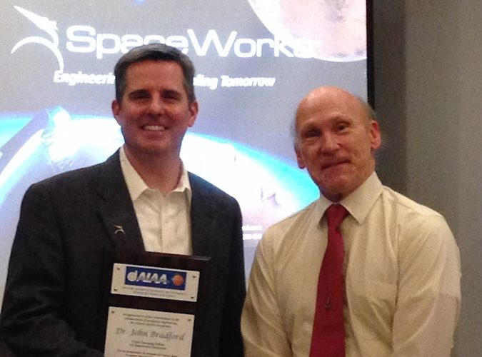 January 2017 Dinner Meeting with Dr. John Bradford of SpaceWorks