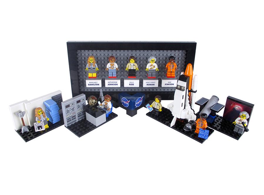 Women, NASA, and Lego bricks