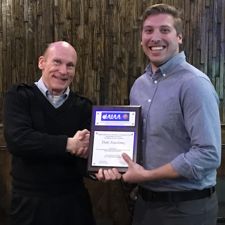 February 2018 Dinner Meeting — Dan Kuehme of Area-I